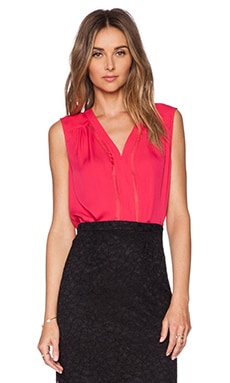 Diane von Furstenberg Goldie Top in Fuchsia Berry