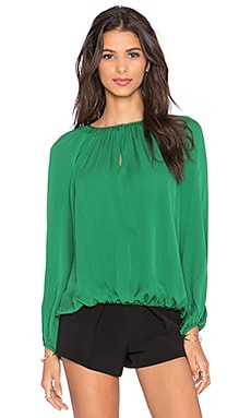 Diane von Furstenberg Hathaway Top in Hunter Green
