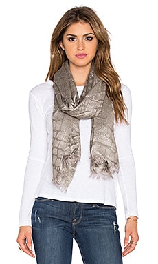Diane von Furstenberg Croc Jacquard Scarf in Sparrows Feather