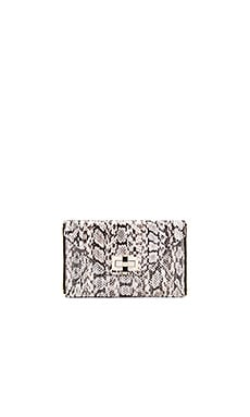 Diane von Furstenberg Gallery Secret Agent Snake Clutch in Natural Roccia