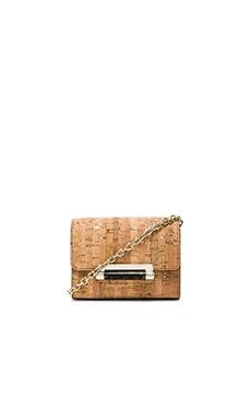 Diane von Furstenberg Micro Mini Metallic Cork Crossbody in Natural