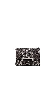 Diane von Furstenberg Lace Mini Crossbody in Black & Nude