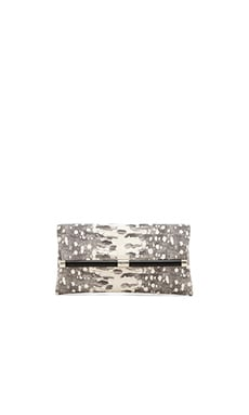 Diane von Furstenberg Karung Envelope Clutch in Natural