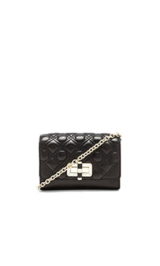 Diane von Furstenberg Gallery Micro Mini Crossbody in Black