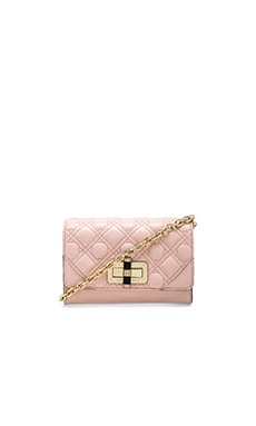 Diane von Furstenberg Gallery Micro Mini Crossbody in Pink Dust