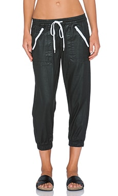 DWP Brandy Crop Jogger in Hydrogloss Black