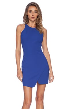Elizabeth and James Bardot Mini Dress in Ultramarine