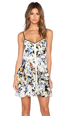 Elizabeth and James Linda Dress in White Multi