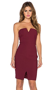 Elizabeth and James Naveen Dress in Black Cherry