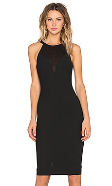 Karina Dress in Black & Black