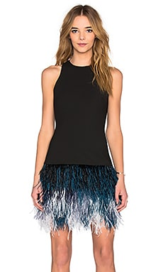 Elizabeth and James Dania Dress in Black & Ombre Blue