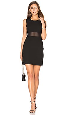 Mesh Insert Dress en Noir
