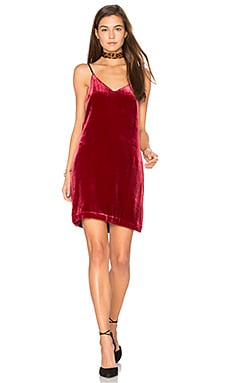 Sidney Frosted Velvet Cami Dress in Shiraz
