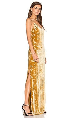 Valerie Gown in Brass Glitter