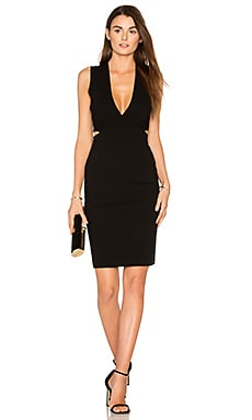 Amber Midi Dress in Black