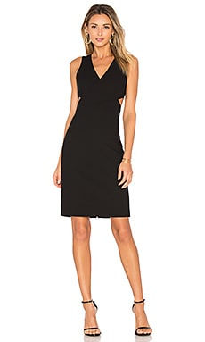 Aldridge Cross Front Dress in Black