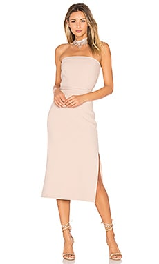 Sierra Strapless Dress in Biscuit