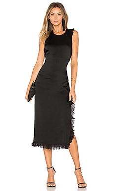 Adriene Side Split Dress in Black