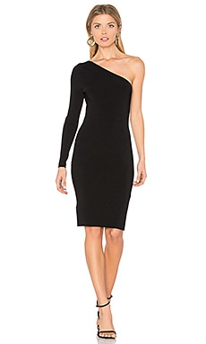 Brittany One Shoulder Dress in Black