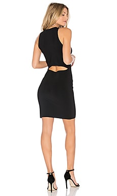 Capri Split Shoulder Dress in Black