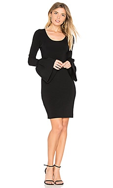 Willomina Bell Sleeved Dress en Negro