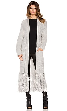 Elizabeth and James Robe Cardigan in Heather Grey