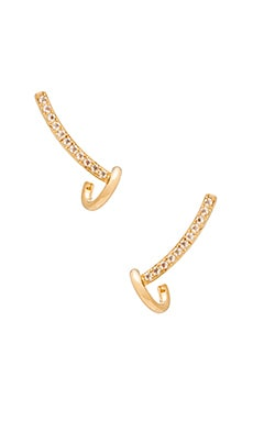 Elizabeth and James Wright Ear Crawler in Yellow Gold