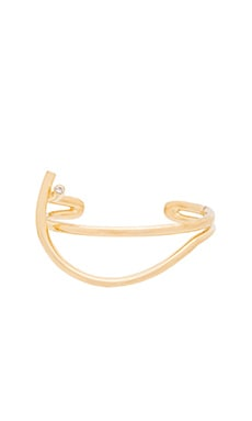 Elizabeth and James Adagio Cuff in Yellow Gold