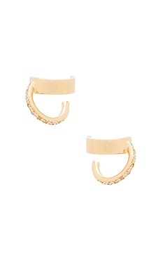Elizabeth and James Zemi Earring in Yellow Gold