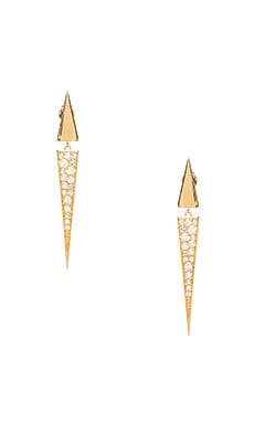 Elizabeth and James Itten Pave Earring in Gold