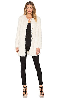 Poodle Fringe Bee Jacket in Ivory