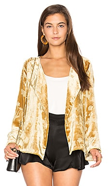 Audrey Raglan Jacket in Brass Glitter