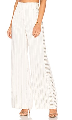 Jones Wide Leg Trouser in White Combo