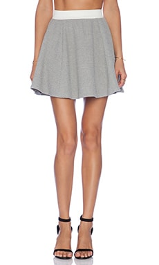Elizabeth and James Alanis Skirt in Pale Grey & Ivory