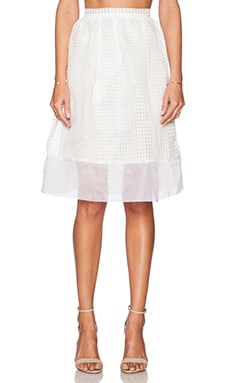 Elizabeth and James Avenue Skirt in Ivory