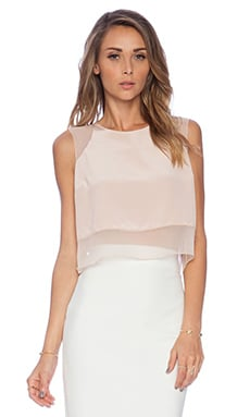 Elizabeth and James Sleeveless Enno Top in Cameo Pink