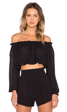 Elizabeth and James Denny Top in Black