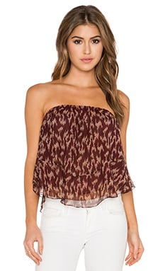 Elizabeth and James Pippa Ikat Top in Black Cherry