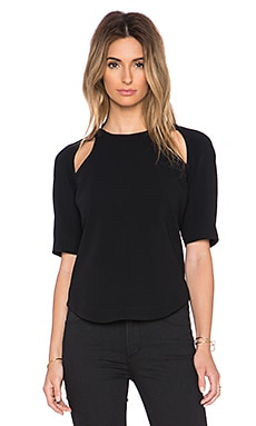 Elizabeth and James Sander Top in Black