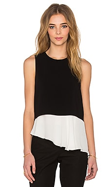 Amelie Tank in Black & Ivory
