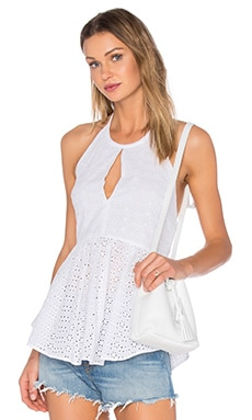 Elizabeth and James Eyelet Perth Top in White