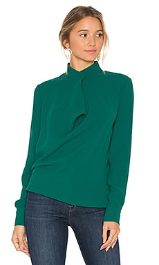 Darby Blouse in Bottle Green