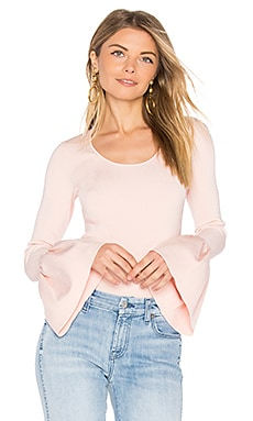 Willow Bell Sleeved Top en Blush