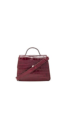 Eloise Mini Satchel Bag in Oxblood