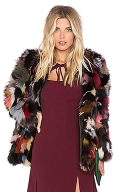 EAVES SU2C x REVOLVE Diana Lamb Fur Jacket in Multi