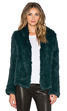 EAVES Rabbit Fur Alice Jacket in Emerald