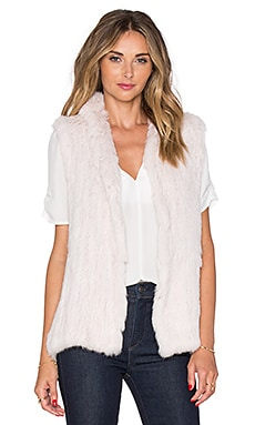 EAVES Rabbit Fur Sarah Vest in Blush