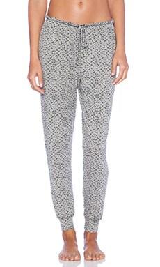 eberjey Starry Eyed Pants in Heather Grey & Black