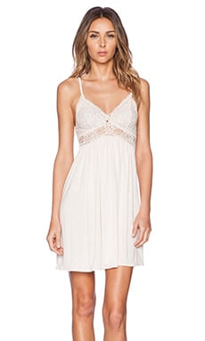 eberjey Golden Girl Chemise in Pearl Pink