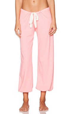 eberjey Heather Cropped Pant in Pink Glow